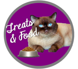 Carrie Pawpins food and treats Button